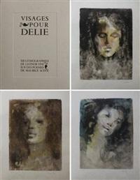 visages pour delie. recueil de poèmes et de douze by leonor fini