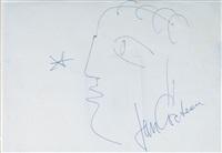 orpheus, umrißzeichnung im profil by jean cocteau