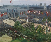 admiralty arch, 19 july, armistice day by john lavery