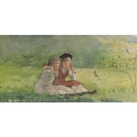 listening to the birds by winslow homer