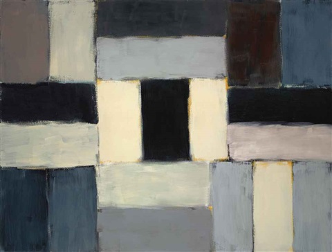 wall of light blue blue by sean scully