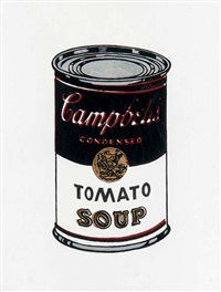andy warhol, campbells soup can, 1962 by richard pettibone