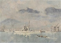the royal visit, table bay by george william pilkington