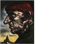 man in profile by peter howson