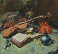 nature morte au violon by richard durando-togo