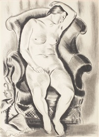 nude in armchair by iosif iser