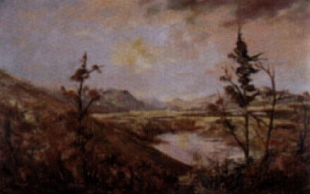 untitled autumn reflections by augustus fredrick kenderdine