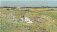 the trap at the 15th, maidstone club, east hampton by childe hassam