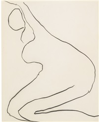nude (2 works) by roger hilton