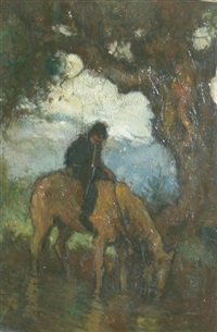 man on a horse by eugene higgins