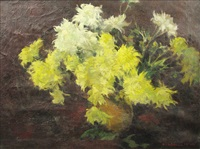 chrysanthemums by honorius cretulescu