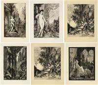 les fables de la fontaine (set of 6) by gustave moreau