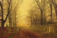 a golden idyll by john atkinson grimshaw