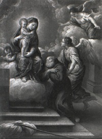 the madonna and child appearing to a franciscan monk by lorenzo gramiccia