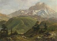source of the snake river by albert bierstadt