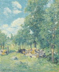 a bit of new england by julian alden weir