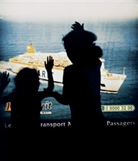 advertisement lightbox, ferry port transit area, tangier by yto barrada