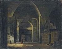 interno di architettura all'antica con figure by antonio basoli