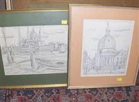 venetian scene (+ 5 others; 6 works) by david smith