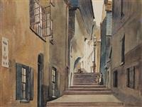 smugglers lane, dartmouth by alfred crocker leighton