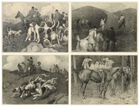 Four Hunting Scenes: The Meet; Found!;..., 1898–1899