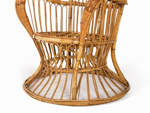 Superbe Large Wicker Chair By Lio Carminati And Gio Ponti