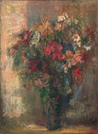 still life with flowers by aharon avni