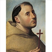 portrait of a monk with a cross by bernardino licinio
