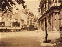 rue du jour; musée carnavalet ca.1895 (2 works) by eugène atget