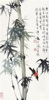 竹鸟 by huang huanwu