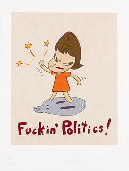 fuckin politics ! by yoshitomo nara