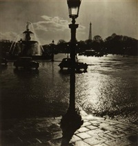 place de la concorde (+ la seine à paris; 2 works) by albert monier