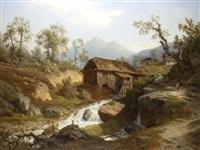 am gebirgsbach by leonhard rausch