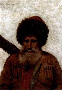 portrait of a caucasian man by thaddaus von ajdukiewicz