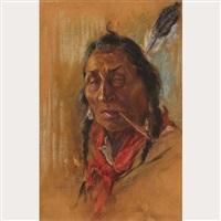 chief with pipe by nicholas de grandmaison