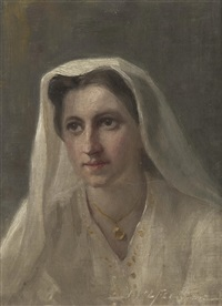 untitled - portrait of a woman by john wycliffe lewis forster