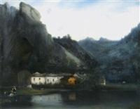 les lavandières dans leur hameau en montagne by camille flers