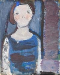 popiersie kobiety w niebieskiej sukni by artur nacht-samborski