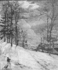 child with sled by mary f. andrade