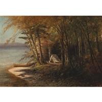 camping on saranac lake, adirondacks by edward hill
