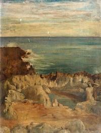 jeune femme dans les rochers by cornelius ary renan