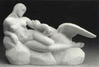 leda and the swan by gleb derujinsky