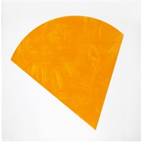 orange shape by ellsworth kelly