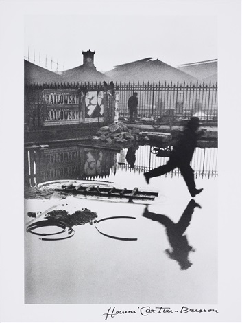 behind the gare saint lazare paris by henri cartier bresson