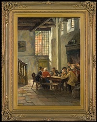 society at the table by gottfried albert maria bachem