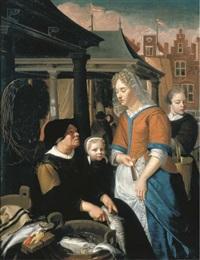 a fish seller by christoffel lubieniecki
