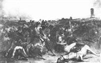 mort du maréchal lannes à la bataille d'essling le 22 mai 1809 by jean-charles (col.) langlois