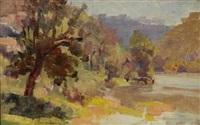 yarra river view by thomas (tom) humphrey