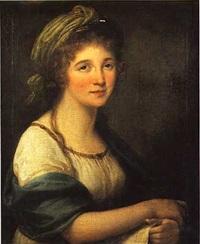 portrait de jeune femme au turban by marie-victoire lemoine
