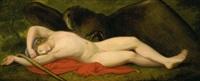schlafender ganymed vom adler jupiters bewacht by johan josef langenhöffel